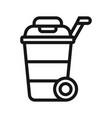 wheelie bin icon vector image