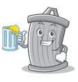 with juice trash character cartoon style vector image vector image