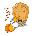 with trumpet cake madeleine character a homemade vector image vector image