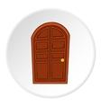 Wooden door icon cartoon style vector image vector image