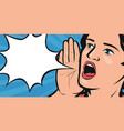 young woman or girl screaming out loud vector image vector image