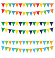 party flags set in colot design cartoon vector image