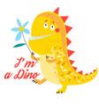 brightly amusing dinosaur vector image