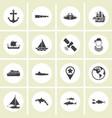 ector - set of nautical sea ocean sailing icons vector image