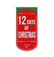 12 days of christmas banner design vector image vector image