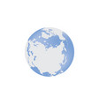 a blue globe with the vector image vector image