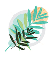 Abstract colored modern Greeting card vector image vector image