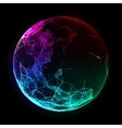 Abstract colorful sphere Futuristic techno vector image vector image