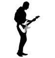 abstract silhouette of guitarist vector image vector image