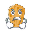 angry cake madeleine character a homemade vector image vector image