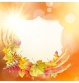 Autumn background with colorful leaves EPS 10 vector image vector image