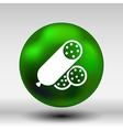 beef delicious sausage food logo design icon vector image vector image