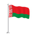 belarus flag isolated wave flag country vector image