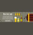 best beer pub banner horizontal concept vector image