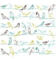 Birds Seamless Background vector image vector image
