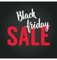 Black Friday Calligraphic Advertising Poster vector image vector image