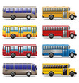 Bus Icons vector image vector image