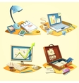 Business retro set vector image vector image
