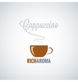 cappuccino cup design background vector image vector image