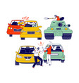 car accident or conflict on road drivers men vector image vector image