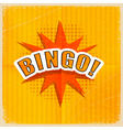 Cartoon Bingo Retro style vector image vector image