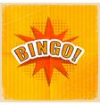 Cartoon Bingo Retro style vector image