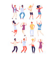 cartoon dancing people happy persons dance vector image vector image