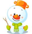 christmas character - cute snowman vector image vector image