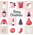 Christmas design template card Holiday vector image vector image