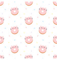 cute cat ring donut seamless pattern background vector image vector image