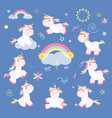 cute unicorn magic baby vector image vector image