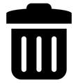 Delete icon vector image