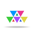 design logo colorful triangles vector image vector image