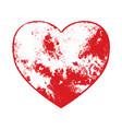 distress grunge heart vector image