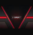 e-sports modern futuristic style glow red in dark vector image vector image
