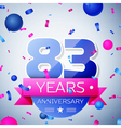 Eighty three years anniversary celebration on grey vector image vector image