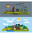 farm and factory vector image