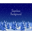 Fir forest seamless background vector image vector image