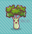 fresh broccoli vegetable character vector image vector image