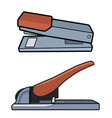 heavyduty stapler set vector image