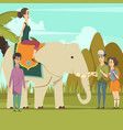indian elephant background vector image vector image