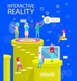 interactive reality abstract virtual world poster vector image vector image