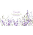 lavender card watercolor provence flowers vector image vector image