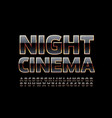 luxury poster night cinema vector image