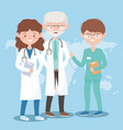 male and female physicians nurse staff medicine vector image vector image