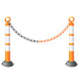 metal barrier stand vector image vector image
