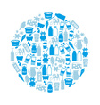 milk and milk product theme icons in circle eps10 vector image vector image
