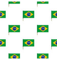 national flag of brazil pattern seamless vector image vector image