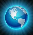 Neon Earth - America vector image vector image