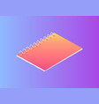 neon notebook on spring isolated badge vector image